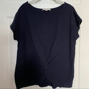 LOFT navy twisted front top - XL